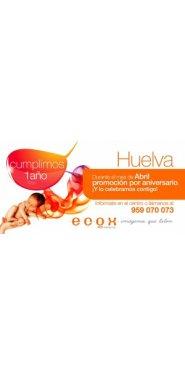 promoción aniversario de Ecox Huelva