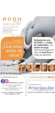 Charla sobre embarazo en Ecox4D Torrejón