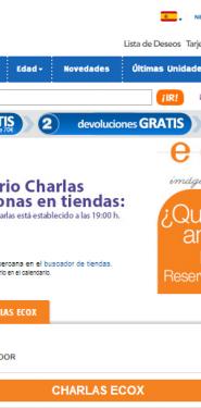 Calendario de Charlas Ecox en Toysrus