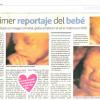 El primer reportaje del bebé