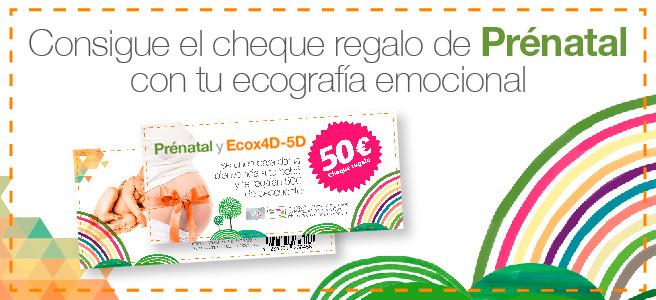 Cheque descuento de 50€ en Prénatal con tu sesión Ecox 4D